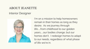interior designer, mesa, Arizona, universal design, aging in place