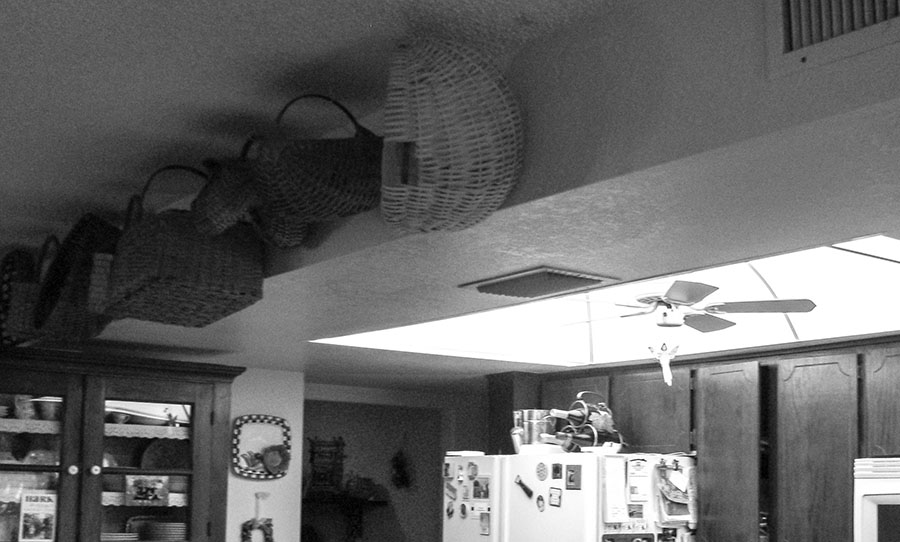 example of a kitchen ceiling that is dropped