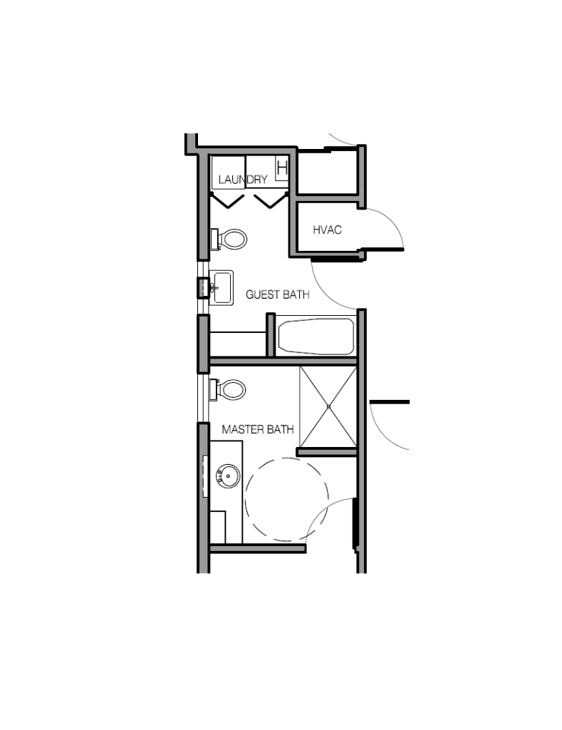 Guest and Master Bathroom Redesign  Floor Plan