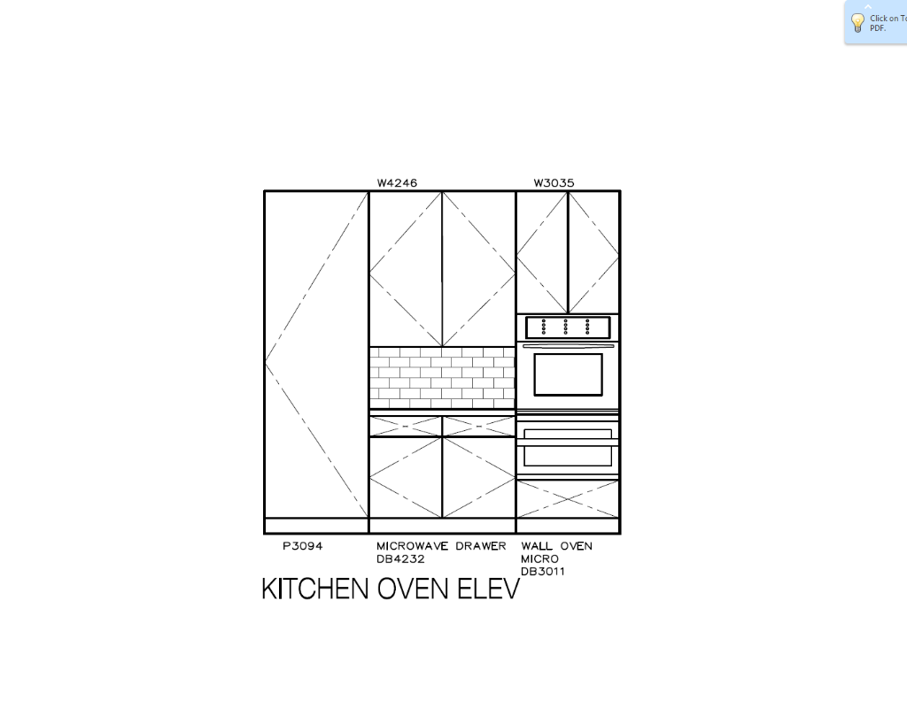 Kitchen Oven Elevation