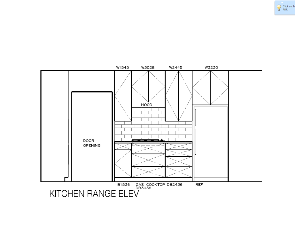 Kitchen Range Elevaton