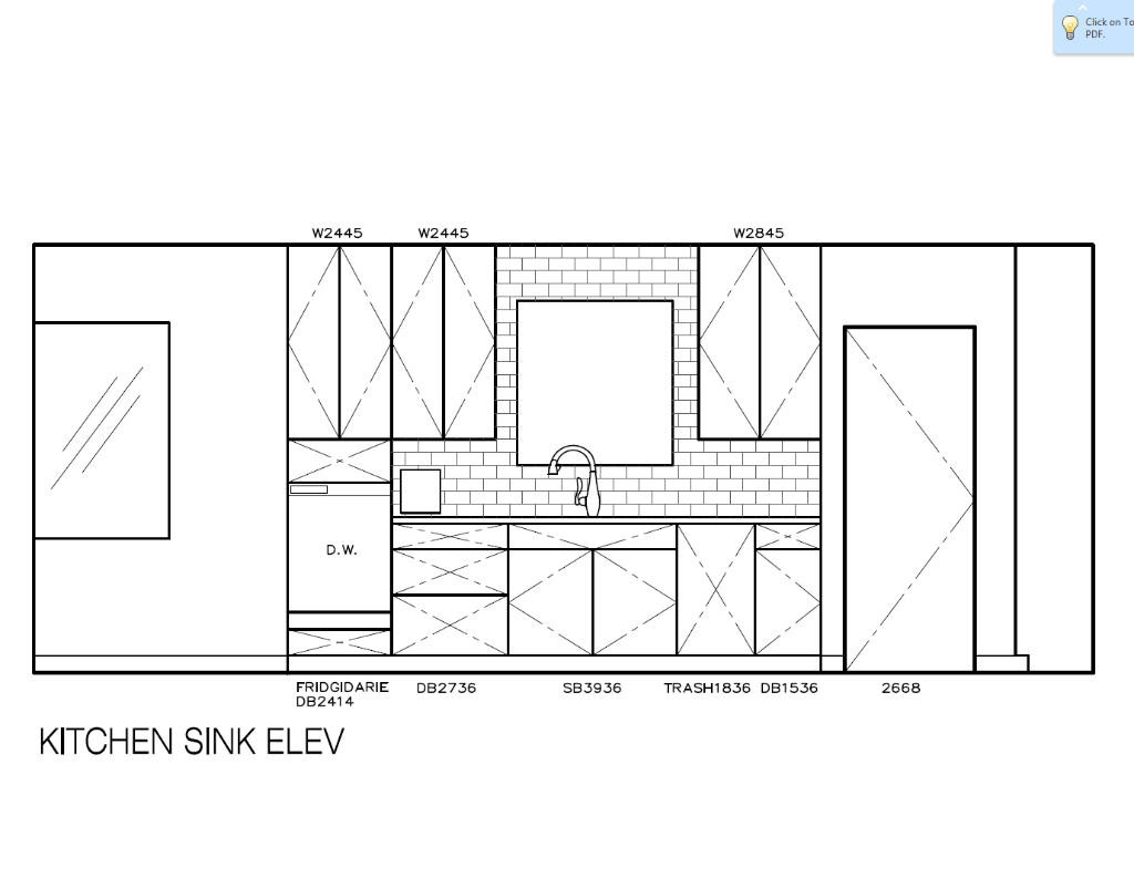 Kitchen Sink Elevation