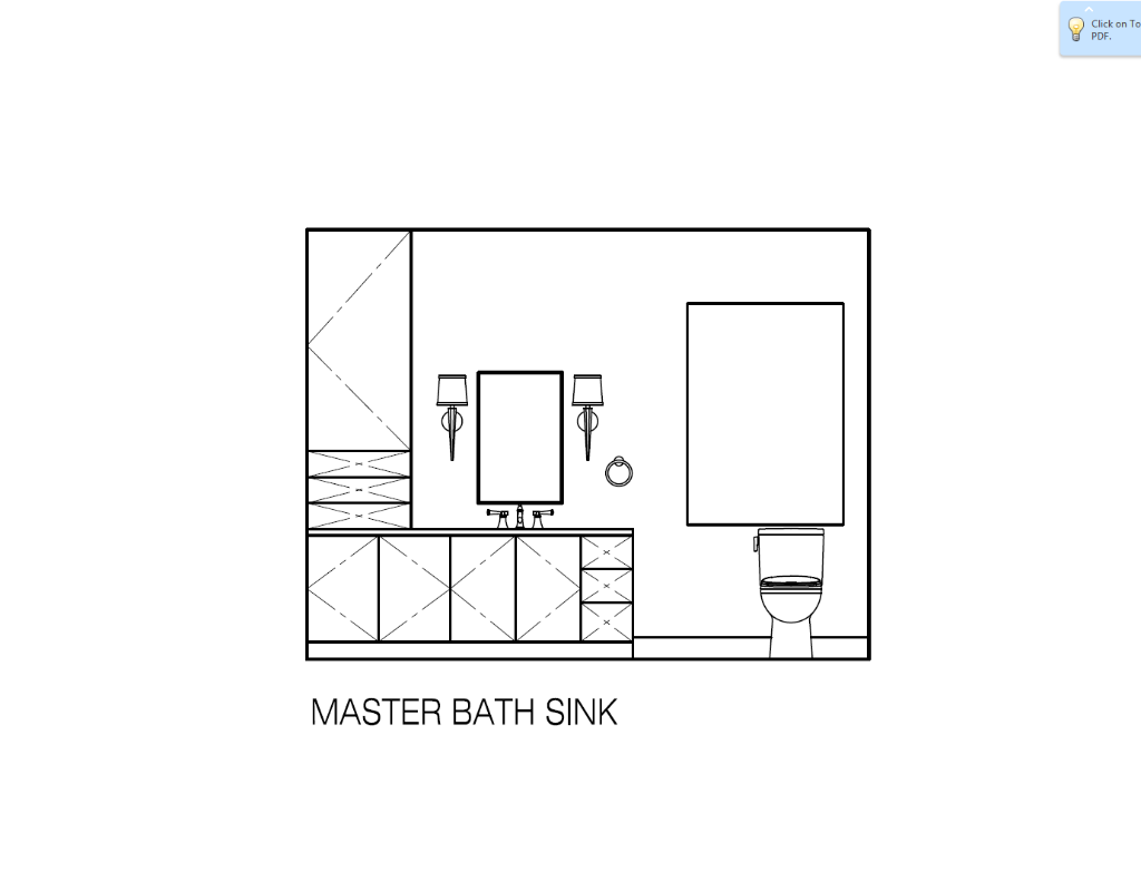 Master Bath Elevation at Sink