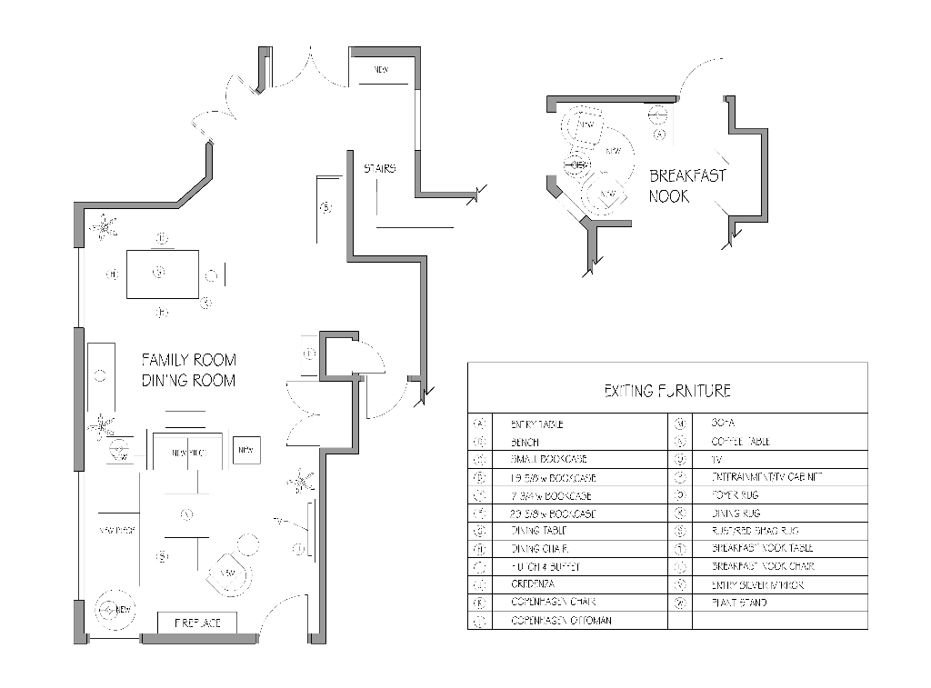Space Plan for Townhouse Update